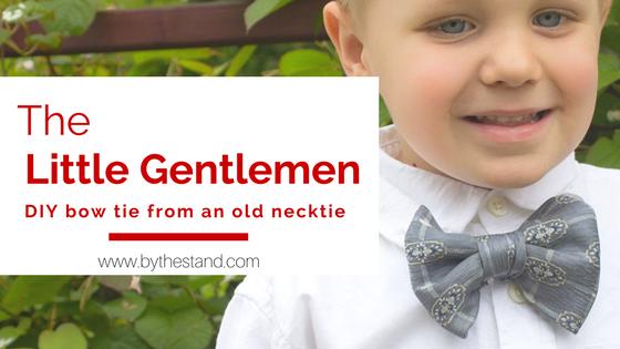 DIY Bow Tie From Grandpa's Neck Tie