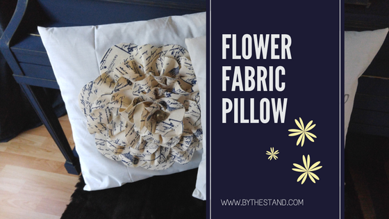 Flower fabric pillow