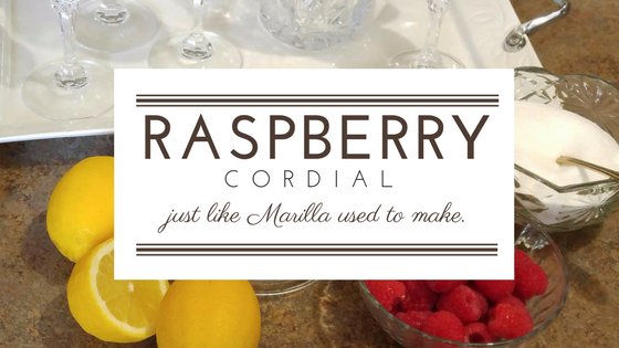 Raspberry Cordial — Just like Marilla used to make.