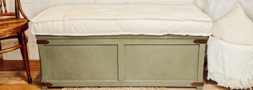 From Chest to Bench – DecoArt Suede Makeover
