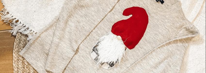 DIY Christmas Gnome Sweater